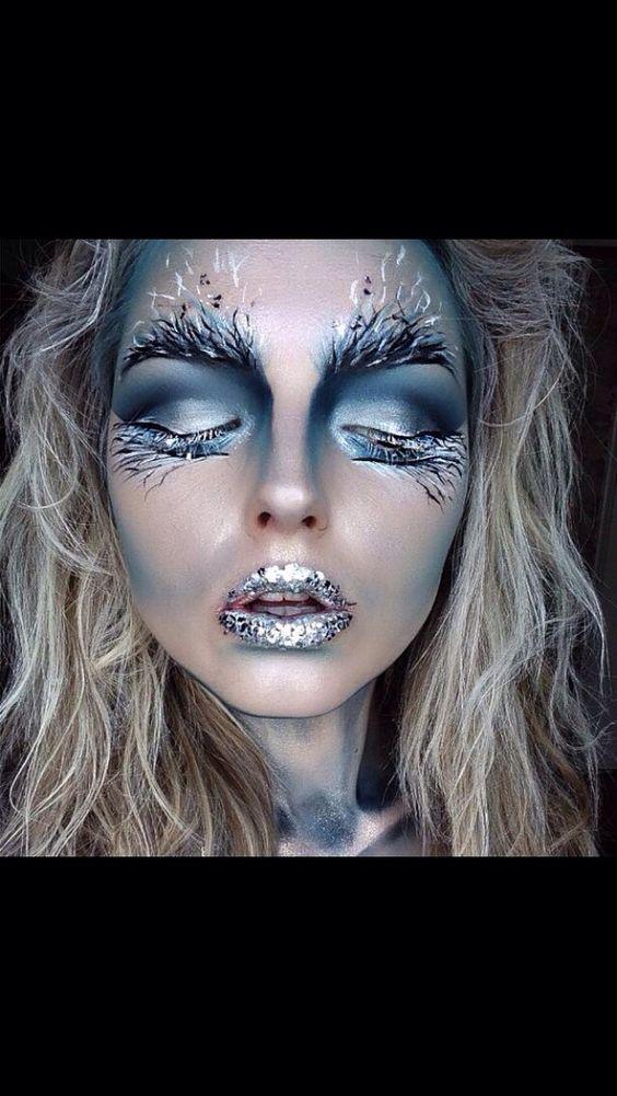 My Halloween ice queen makeup look :)