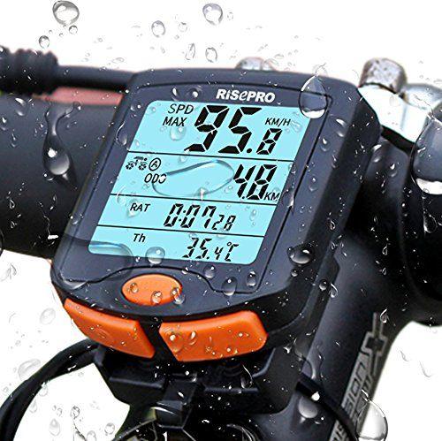 LCD Digital Bike Waterproof Odometer Speedometer Stopwatch Outdoor Cycling