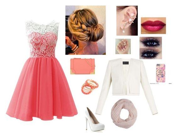 """cérémonie de mariage, thème: Pink"" by dreamofjess ❤ liked on Polyvore featuring Foley + Corinna, BCBGMAXAZRIA, Ruby Rocks and Pistil"