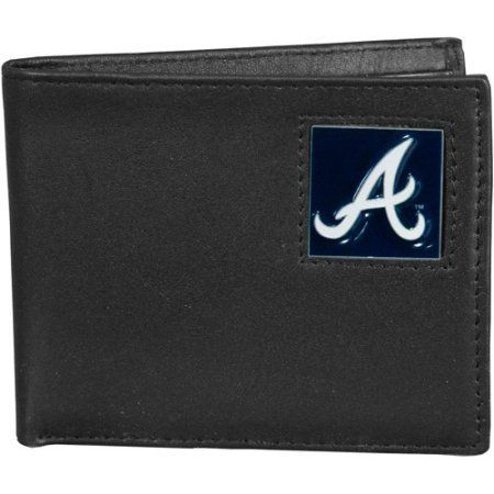 MLB - Siskiyou - Bi-Fold Leather Wallet -Atlanta Braves, Black