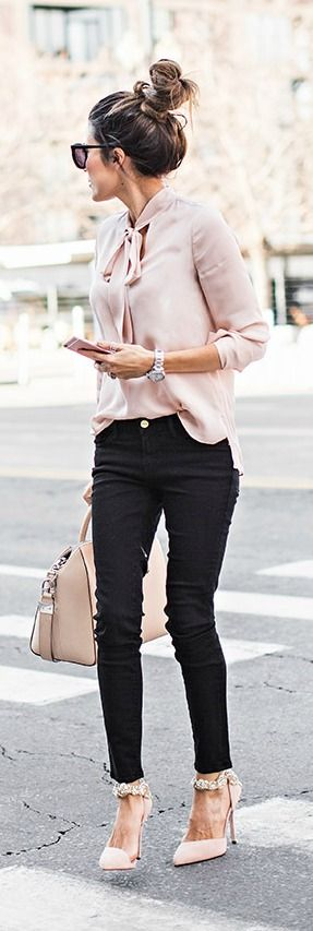 Top knot + street style.