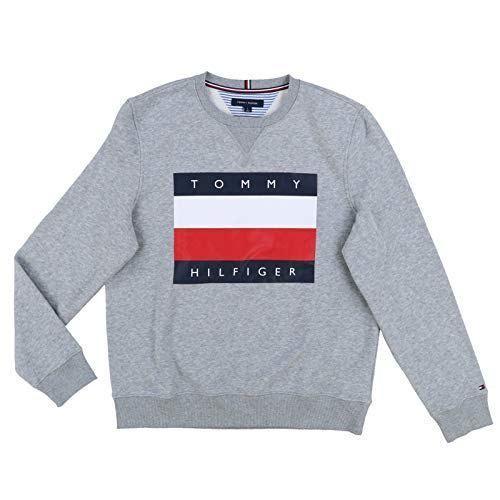 Tommy Hilfiger Men/'s Logo Sweatshirt Grey