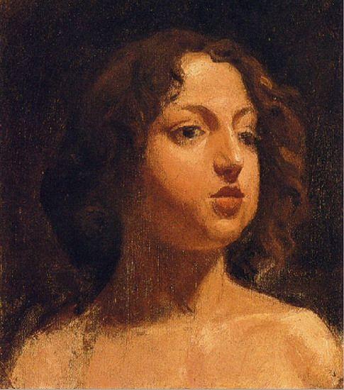 Pablo Picasso. Tête de fille. 1896 year