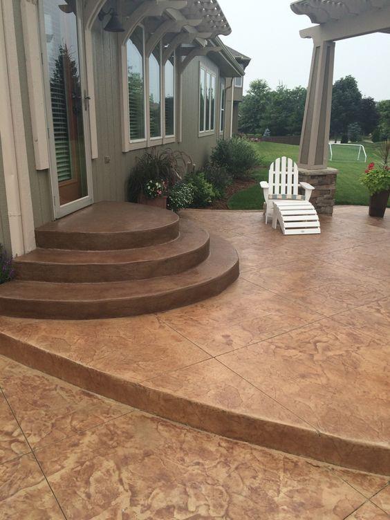Decorative Concrete Concrete Steps And Patio On Pinterest