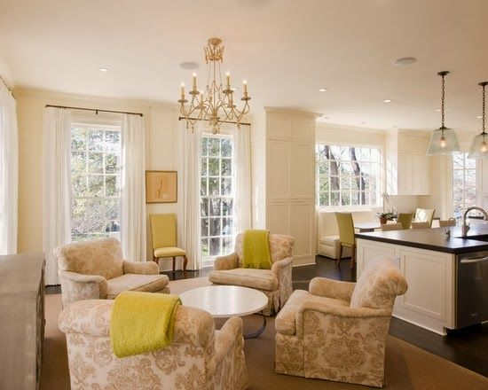 Abby M. Interiors: keeping room design plan + sources room off the kitchen where guests can hang