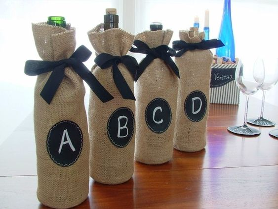 bags for your guests to take home any wine they buy - I'm sure you could find cheaper alternatives in town