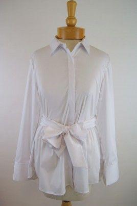 Ravel Tie Blouse- White