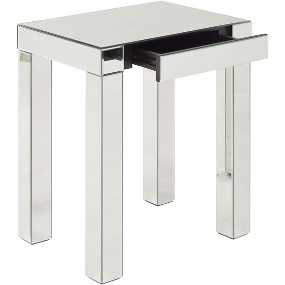 Reflections Silver Mirror Accent Table