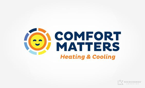Comfort Matters Kickcharge Creative Small Business Logo