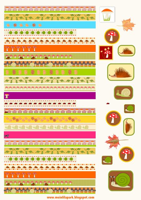 FREE printable autumn themed borders and stickers (perfect as faux ...