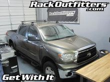 Toyota Tundra Thule Rapid Traverse BLACK AeroBlade Base Roof Rack