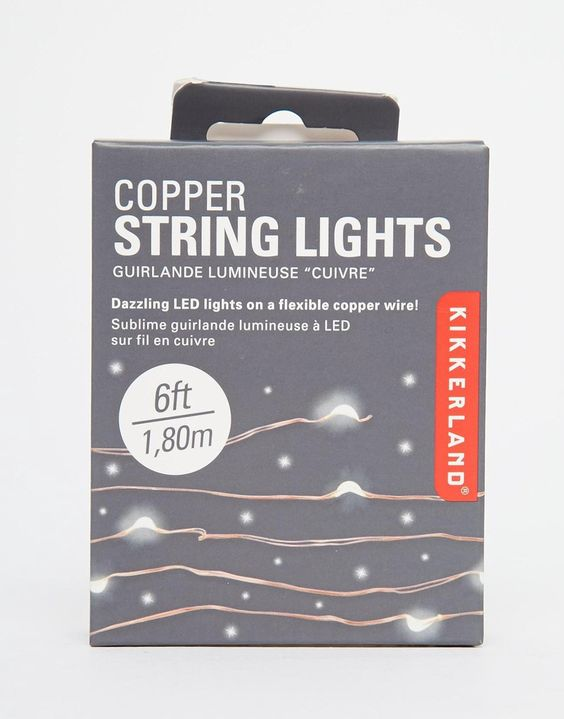 - Description - Specs Install dazzling lights wherever you need with 6 feet of flexible copper wire that contains 20 super bright LED lights. Hang it anywhere like windows, plants, and mirrors. - L 3.