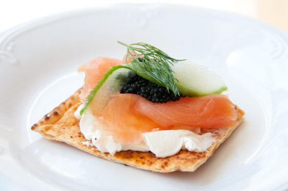 Smoked salmon snack