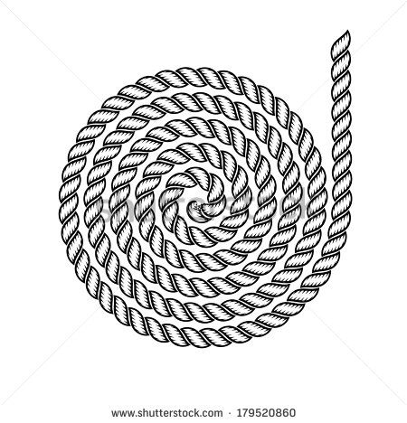 pattern of rope on a white background - stock vector