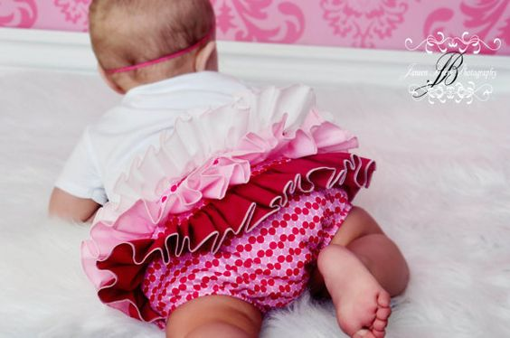 Ruffle Diaper Cover Bloomer Bloomers Fancy by BloominBloomers, $25.00