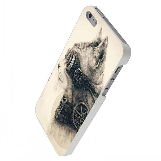 Cat Steampunk For  iPhone 4/4s/5/5c/5s iPod 4/5 by PanturaLiveCase, $15.00