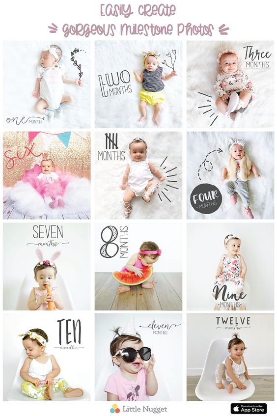 Monthle baby photos | Впервые мама