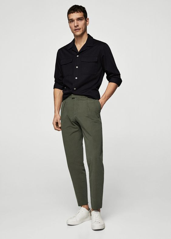 Mango Pleated Linen Trousers - Men | Man 36