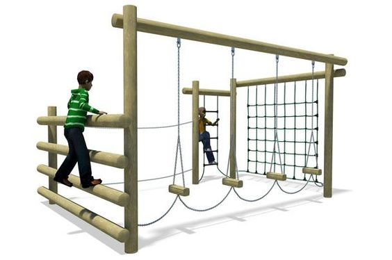What about this for backyard play? I think this would be a lot more fun than a play set