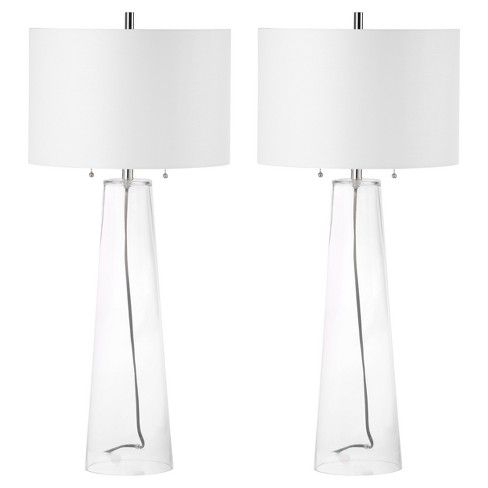 Myrtle Clear Glass Table Lamp Set Of 2 Safavieh Target Glass Table Lamp Clear Glass Table Lamp Lamp Sets