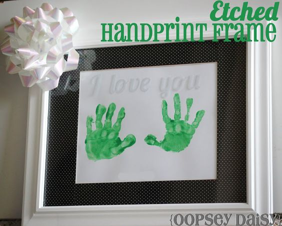 Etched Handprint Frame