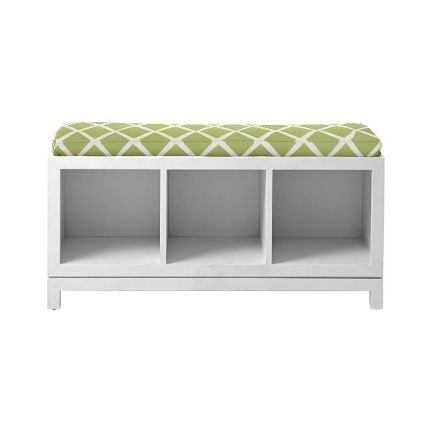 ooh I could make a bench out of a set of shelves