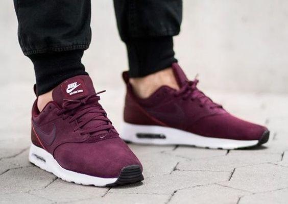 Nike Air Max Tavas: Burgundy | See more like this follow @filetlondon and Stay inspired. Like and repin. #filetlondon
