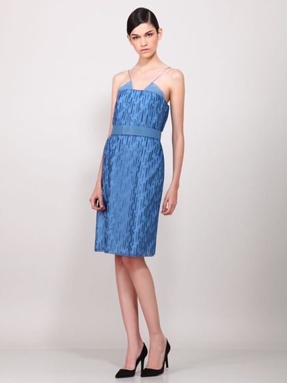 Silk Cotton Embroidered Dress by Akris on Gilt