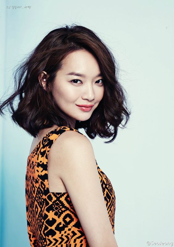 Shin Min Ah.  Gorgeous hair, hopefully my hair will grow out to look like this.: