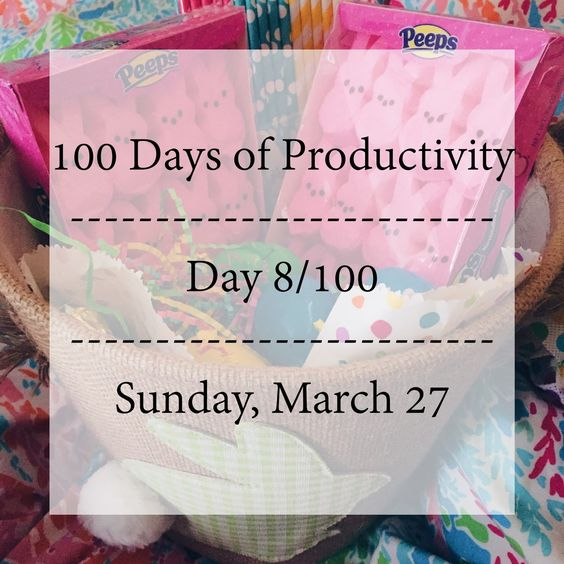 Bright-Eyed, Blonde, & Bubbly: 100 Days of Productivity // 8.100 | March 27