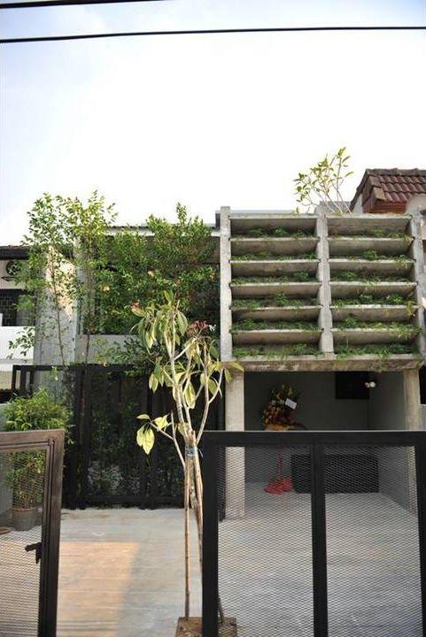 Contemporary terrace house exterior design in Bangsar home