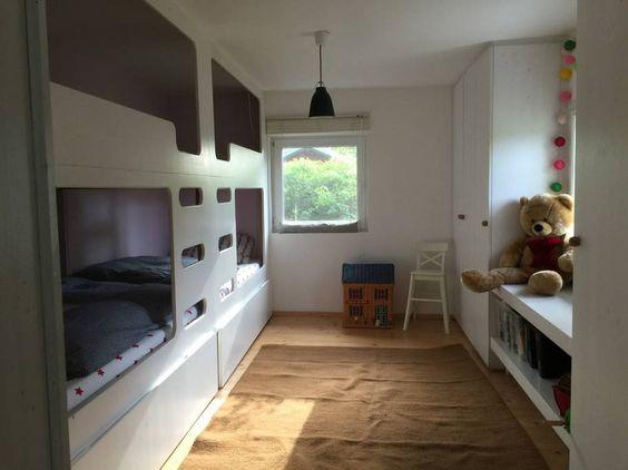 Einbaubetten aus denen durch Herausziehen der unteren Schübe noch zwei Betten entstehen können !