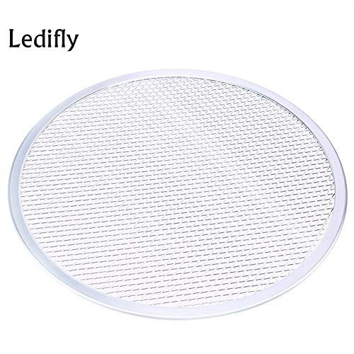 Baking Tray Ledifly Thicken Aluminum Flat Mesh Pizza Screen Round Baking Tray Net 10 12 14 Inch Cupcake Small Bpa Enamel Liners Cookies Medium Big Tfal Lid Tray Bakes Cake Oven Tray