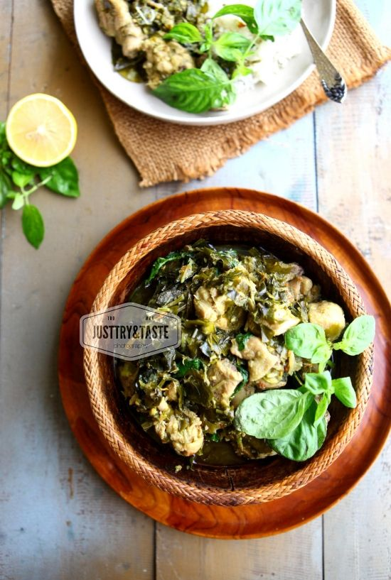 Ayam Masak Daun Melinjo Manadonese Style Chicken And Gnemon Leaves Resep Ayam Masakan Makanan Dan Minuman