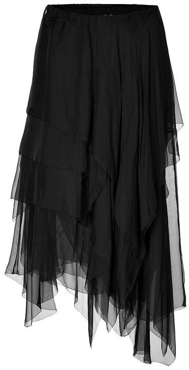 .Donna Karan - vSilk Chiffon Layering Skirt= $1300