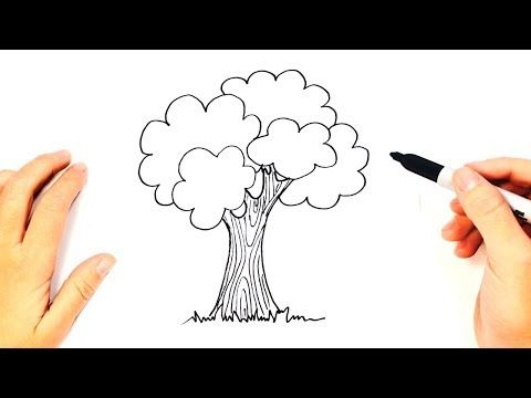 How To Draw A Tree Step By Step Easy Drawings Youtube Flower Drawing Easy Drawings Hand Lettering Alphabet