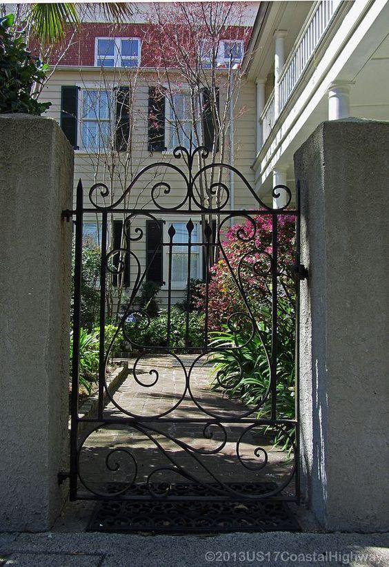 Lyre Gate by Master Blacksmith Phillip Simmons (1912-2009), 65 Alexander Street (Charleston, SC).: