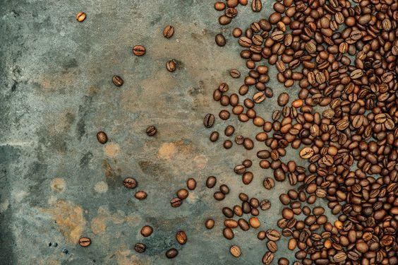 Coffee beans on grunge background. Vintage Design. $8.00