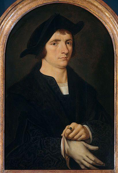 VAN CLEVE Joos / Joost van Beke - Flemish school (Cleve ca. 1480/90 - 1540/41, Antwerp) - Portrait of Joris Vezeleer (or Vezelaer), after 1518 by/after Joos van Cleve. Noordbrabants Museum: