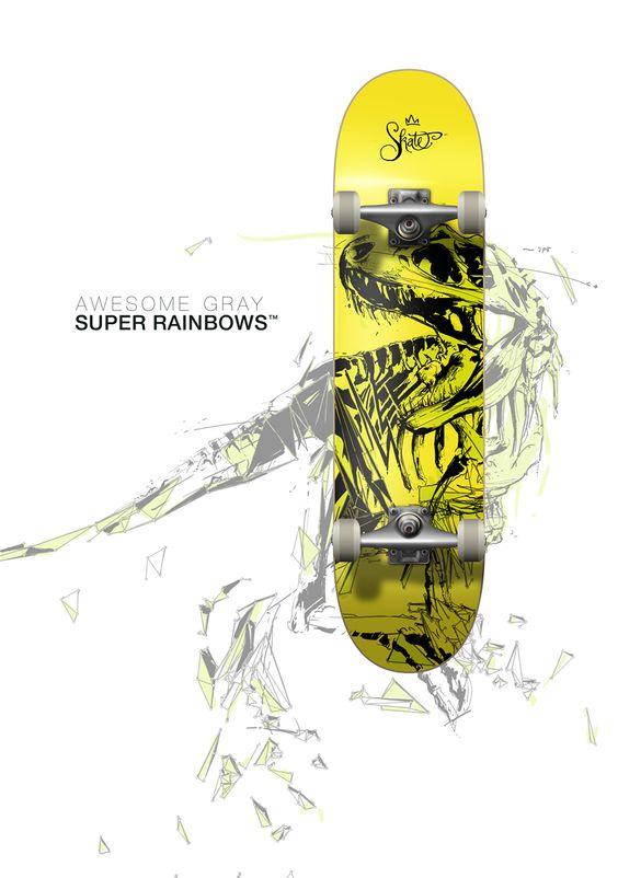 T-Rex Skateboard Deck