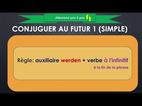 Allemand Debutants Comment Conjuguer Le Verbe Au Futur Simple Facilement Futur 1 Youtube Futur Simple Verbe Au Futur Verbe