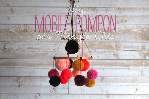 Vous vous souvenez surement du mobile pompon de la chambre d'Adèle ! Sa maman, auteure du blog Maayle Chic, se propose aujourd'hui de donner toutes les explications pour le réaliser soi-même.  Et cherry on the cake, nous vous proposons de gagner le mobile...