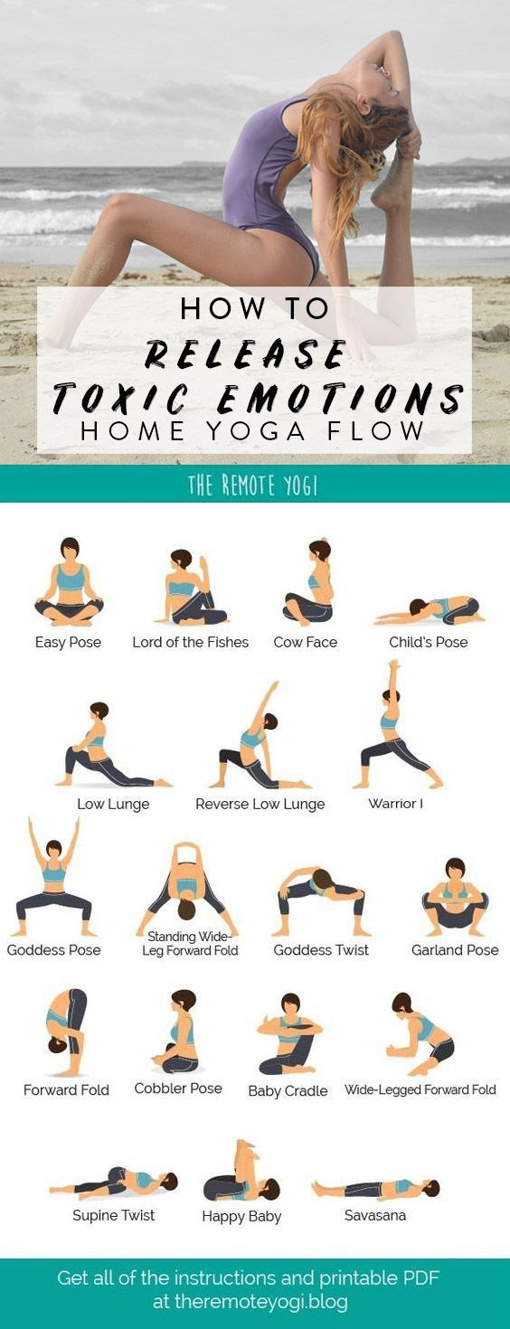 Yoga To Release Emotions Printable Yoga Pdf Easy Yoga Workouts Hip Opening Yoga Easy Yoga