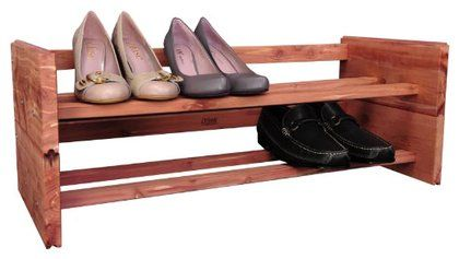 Cedar Green A122 Aromatic Cedar Stackable Shoe Rack | Free Shipping