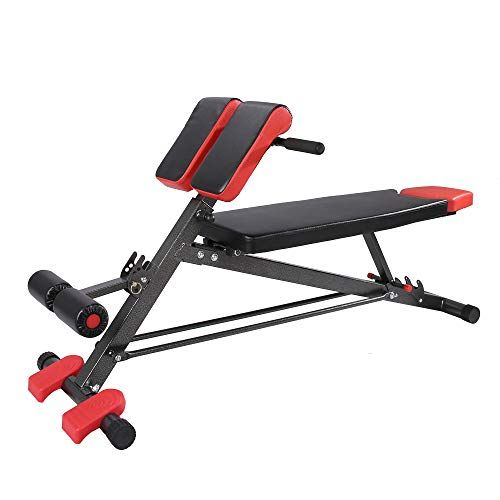 Finer Form Upgraded Multi Functional Bench For Full All In One Body Workout Hyper Back Extension Roman Chair Adjustable Ab Sit Up Bench Decline Bench Flat Fitness Body Sit Up All In One