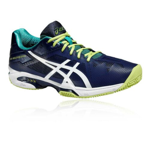57 Off Was 129 99 Now 54 99 Asics Mens Gel Solution Speed 3 Clay Tennis Shoes Blue Sports Lightweight Yellow Trainers Tennis Sport Shoes Blue Shoes