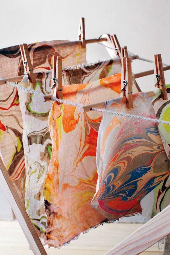 De kunst van het papier marmeren was oorspronkelijk een geheime techniek en ontstond ongeveer 2000 jaar geleden in China.
