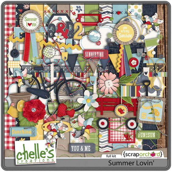5.17 Summer Lovin Freebie Cluster | Digital Scrapbooking Freebies - Chelles Creations