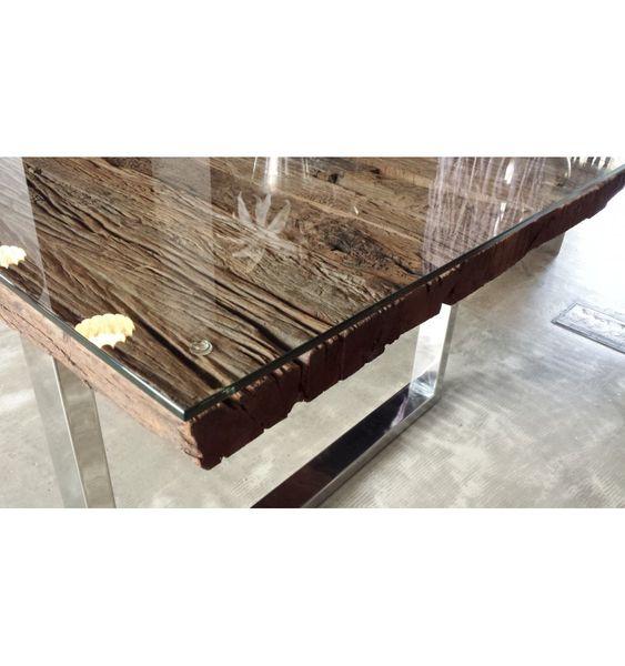 tisch-lounge-tisch-esstisch-absolut-exklusive-holzplatte-mit-einen, Esstisch ideennn