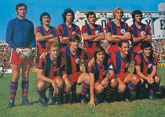 1972 San Lorenzo de Almagro - Irusta, Glaria, Cocco, Rosl, Rezza e Olguín; Scotta, Fischer, G. Ameijenda, Sanfilippo e Chazarreta